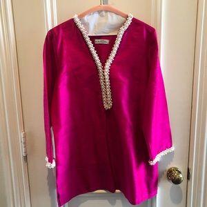Tops - Handmade silk tunic
